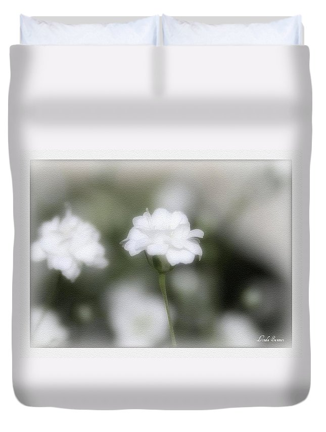 Flowers Duvet Cover featuring the photograph Classic White by Linda Sannuti