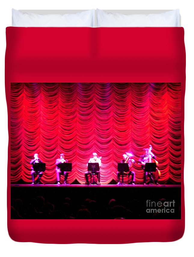 Classical Duvet Cover featuring the photograph Classical Quintet by Sherry Oliver
