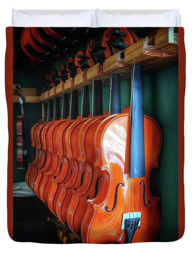 Classical Violins Duvet Cover featuring the photograph Classical Violins by John Myers