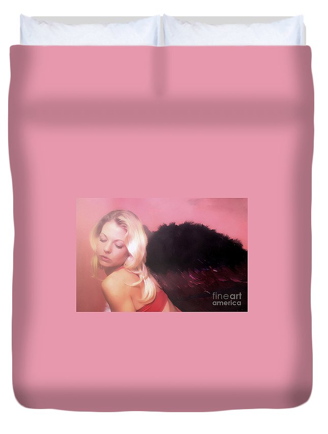 Clay Duvet Cover featuring the photograph Clays Fallen Angel Series No 4 by Clayton Bruster