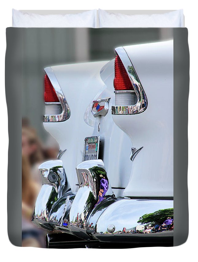 Chevy Duvet Cover featuring the photograph Clean And Bright by Pauline Darrow