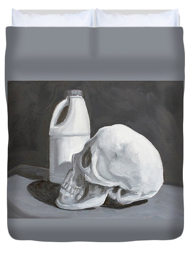 Still Life Duvet Cover featuring the painting Clean by Margaret Marzullo