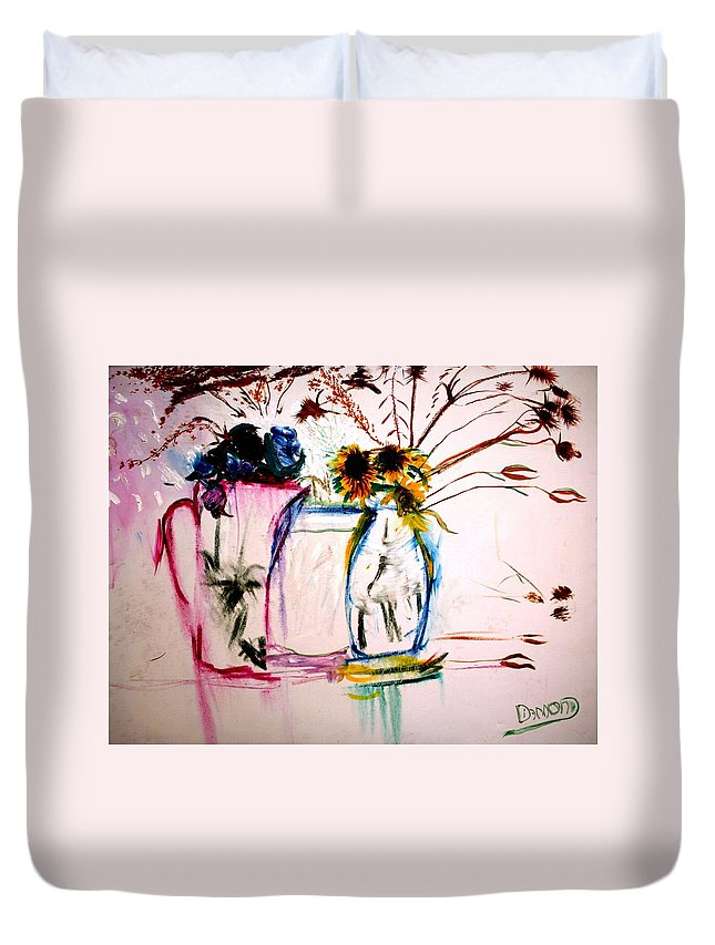 Still Life Duvet Cover featuring the painting Clear by Jack Diamond