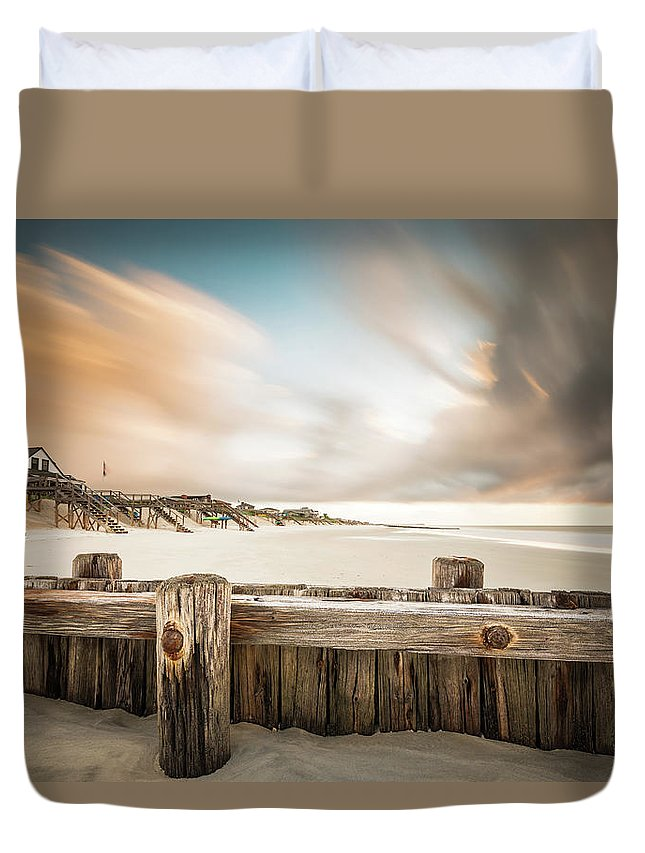 Pawleys Island Duvet Cover featuring the photograph Clearing Out The Rain by Ivo Kerssemakers