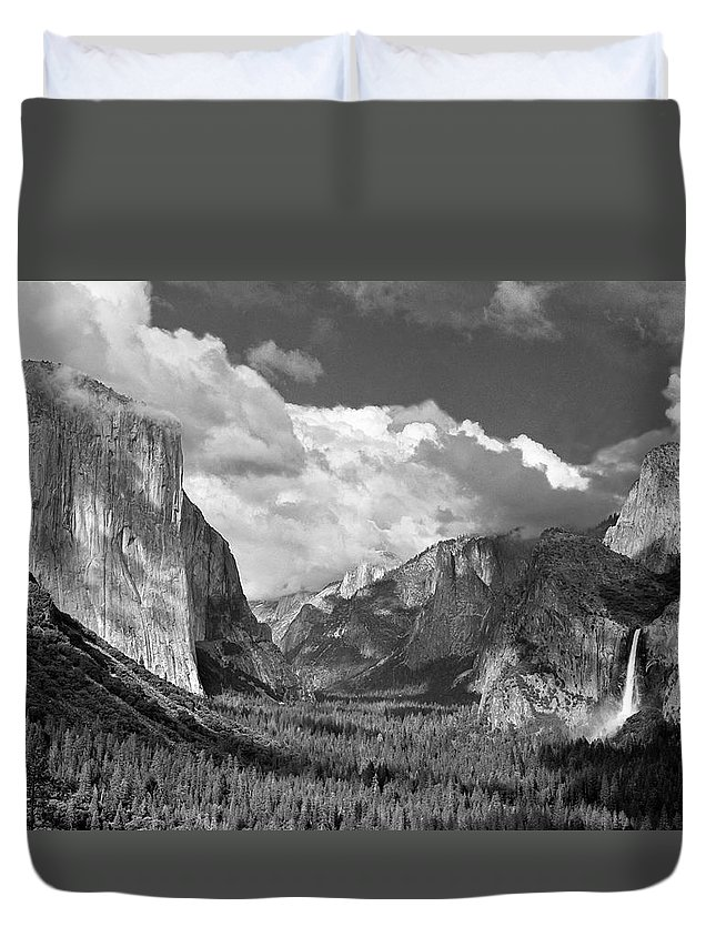 Yosemite Duvet Cover featuring the photograph Clearing Skies Yosemite Valley by Tom and Pat Cory