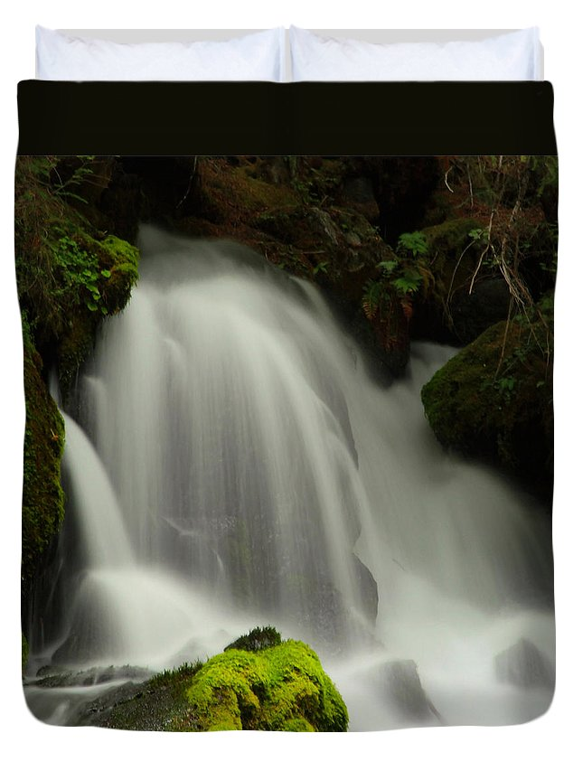 Clearwater Falls Duvet Cover featuring the photograph Clearwater Falls 1 by Ingrid Smith-Johnsen