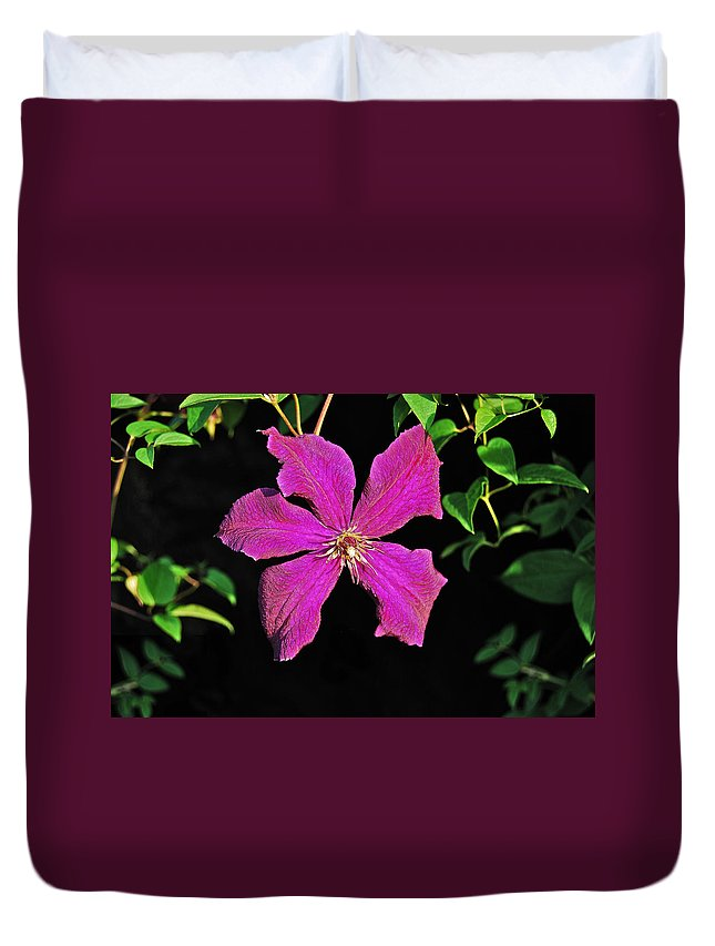 Clematis Duvet Cover featuring the photograph Clematis 2598 by Michael Peychich