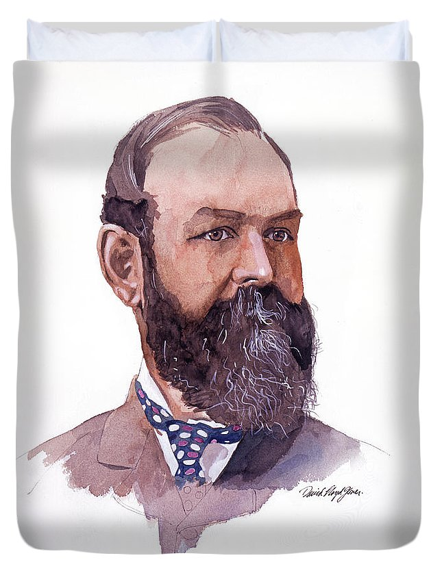 Clement Cornwall Duvet Cover featuring the painting Clement Cornwall Portrait by David Lloyd Glover
