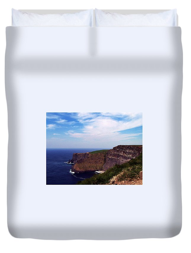 Irish Duvet Cover featuring the photograph Cliffs Of Moher Aill Na Searrach Ireland by Teresa Mucha