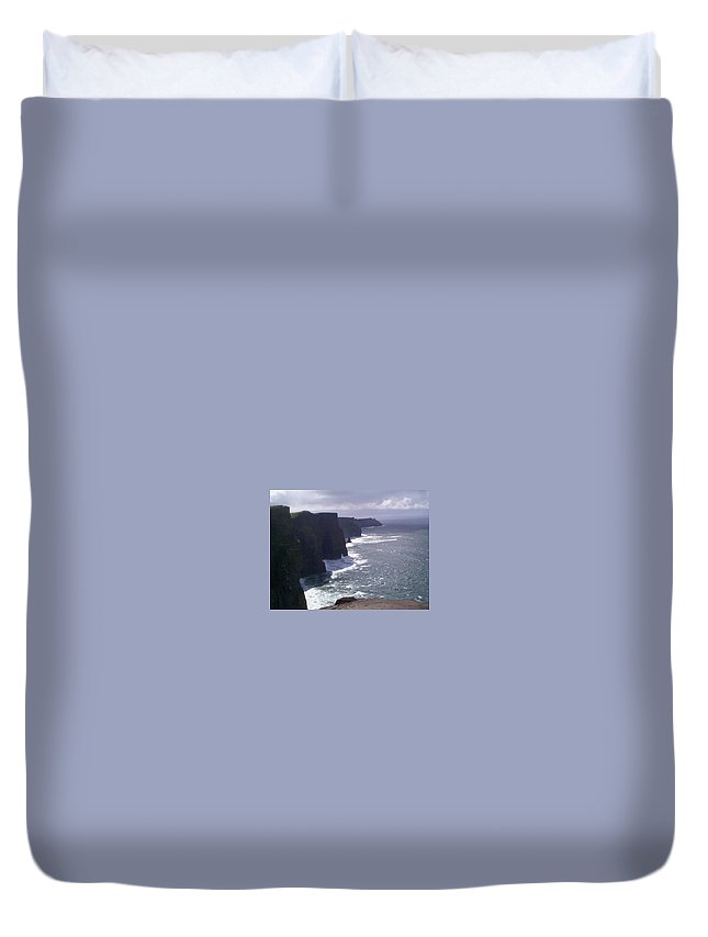 Ireland Duvet Cover featuring the photograph Cliffs Of Moher by Charles Kraus