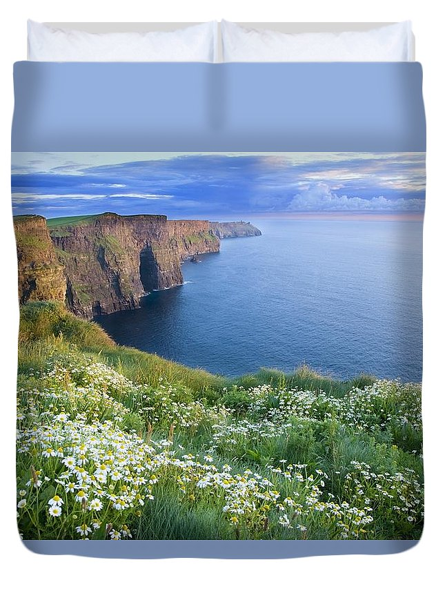 Outdoors Duvet Cover featuring the photograph Cliffs Of Moher, Co Clare, Ireland by Gareth McCormack