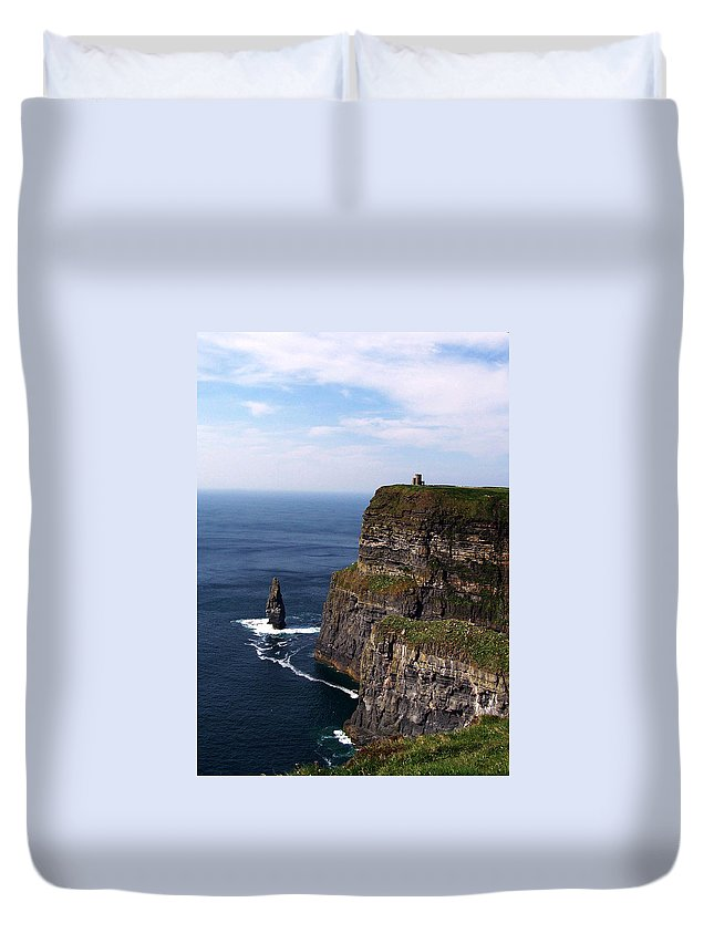 Irish Duvet Cover featuring the photograph Cliffs Of Moher County Clare Ireland by Teresa Mucha
