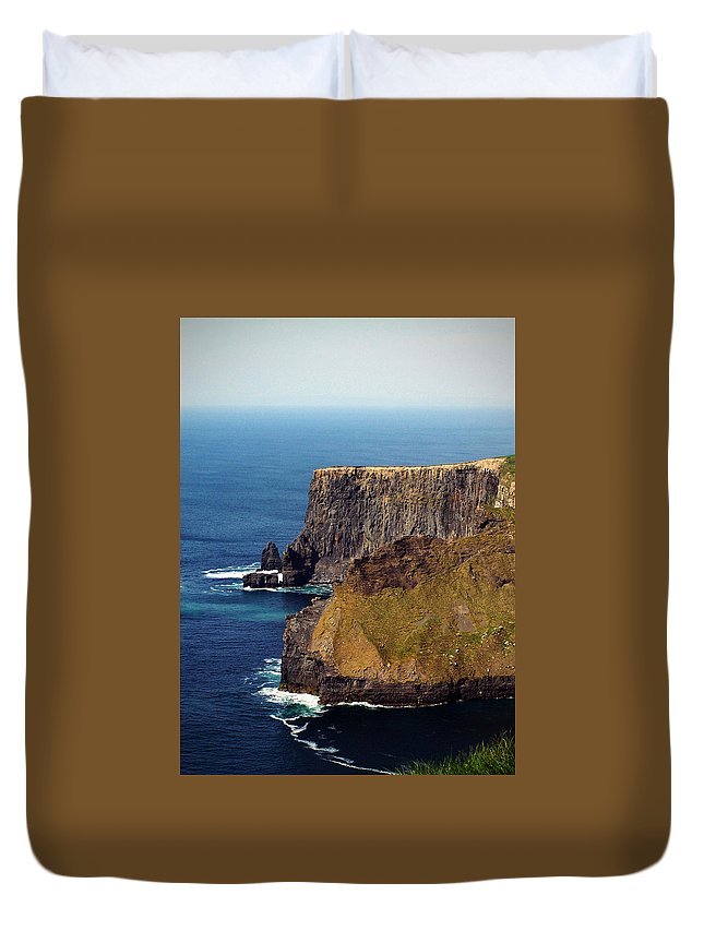 Irish Duvet Cover featuring the photograph Cliffs Of Moher Ireland View Of Aill Na Searrach by Teresa Mucha