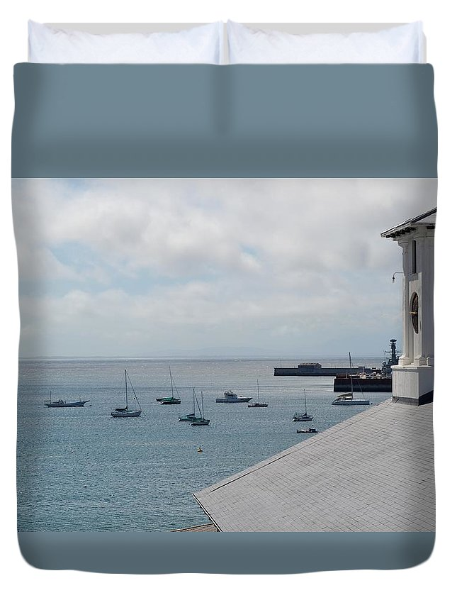 Landscape Duvet Cover featuring the photograph Clock Work by Abdurragmaan Majal