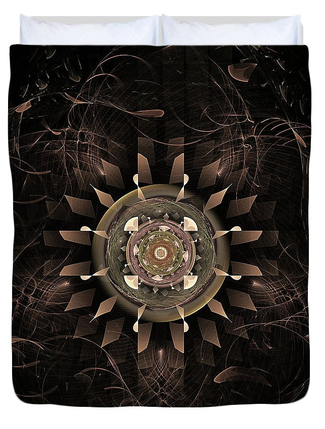 Clockwork Duvet Cover featuring the digital art Clockwork by John Edwards