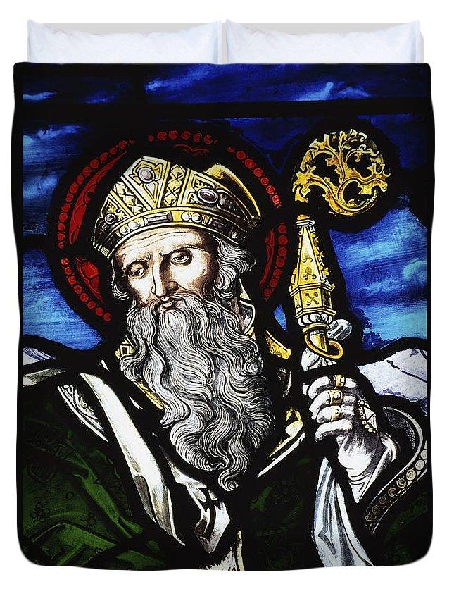 Ireland Duvet Cover featuring the photograph Clogheen, Ireland St. Patrick On by Richard Cummins