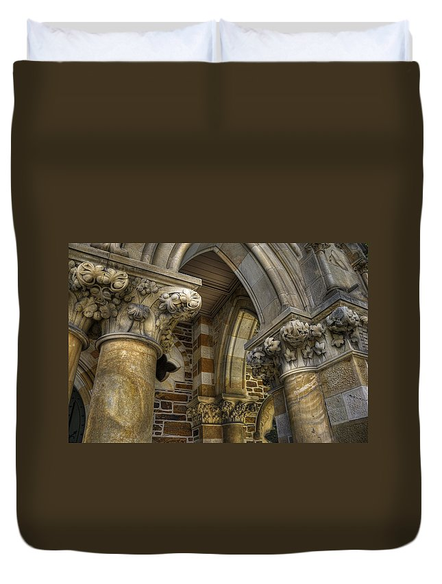 Church Duvet Cover featuring the photograph Cloisters by Wayne Sherriff