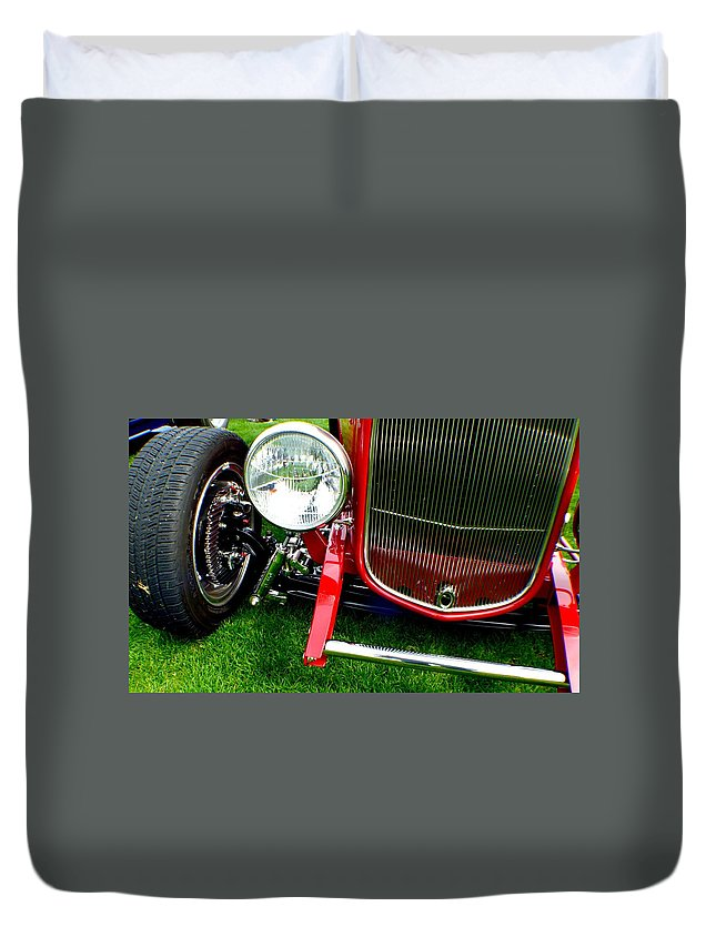 Hot Rod Duvet Cover featuring the photograph Close Up by Barbara Angle