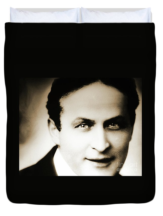 Close Up Of Harry Houdini Duvet Cover for Sale by American