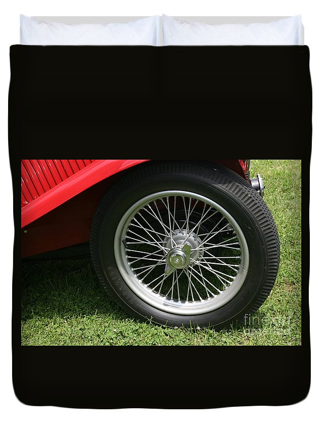 Car Duvet Cover featuring the photograph Close-up Of Past by Dawn Downour