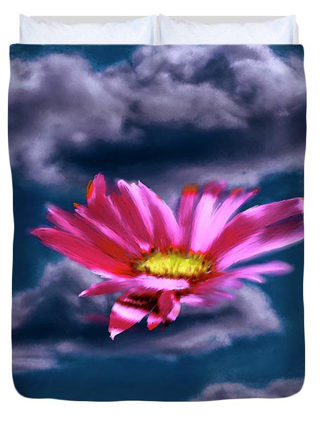 Cloud Duvet Cover featuring the photograph Cloud Flower. by Leif Sohlman