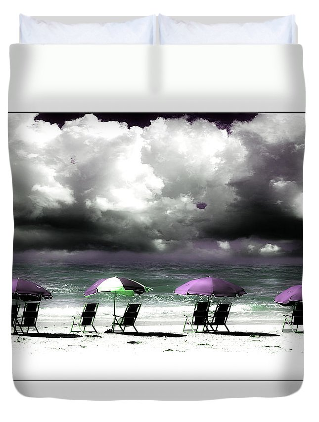 Beach Duvet Cover featuring the photograph Cloud Illusions by Mal Bray