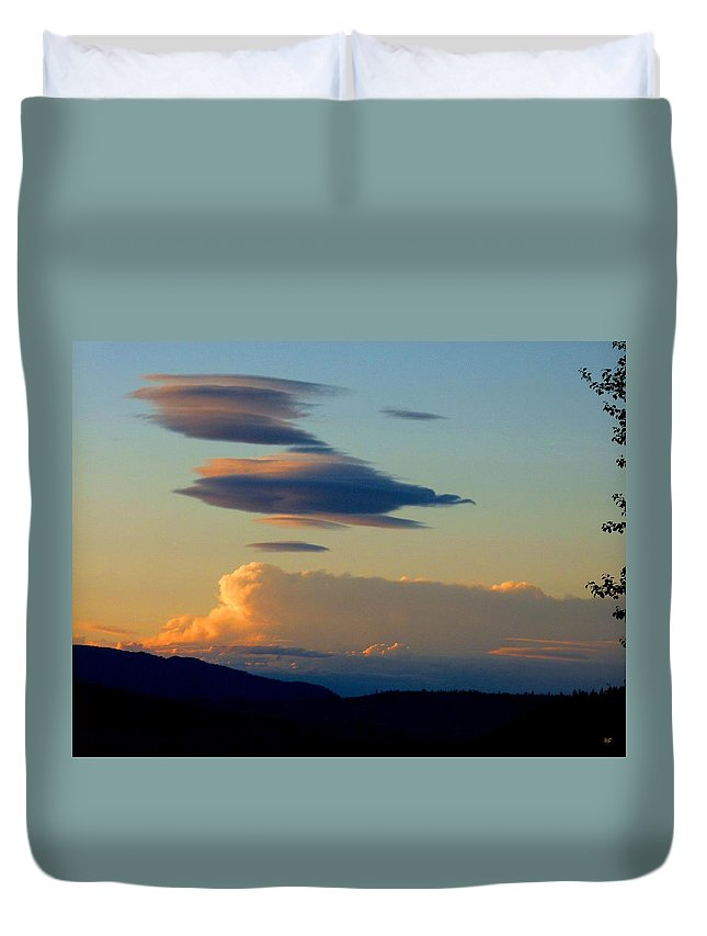 Sky Duvet Cover featuring the photograph Cloud Nine 9 by Will Borden