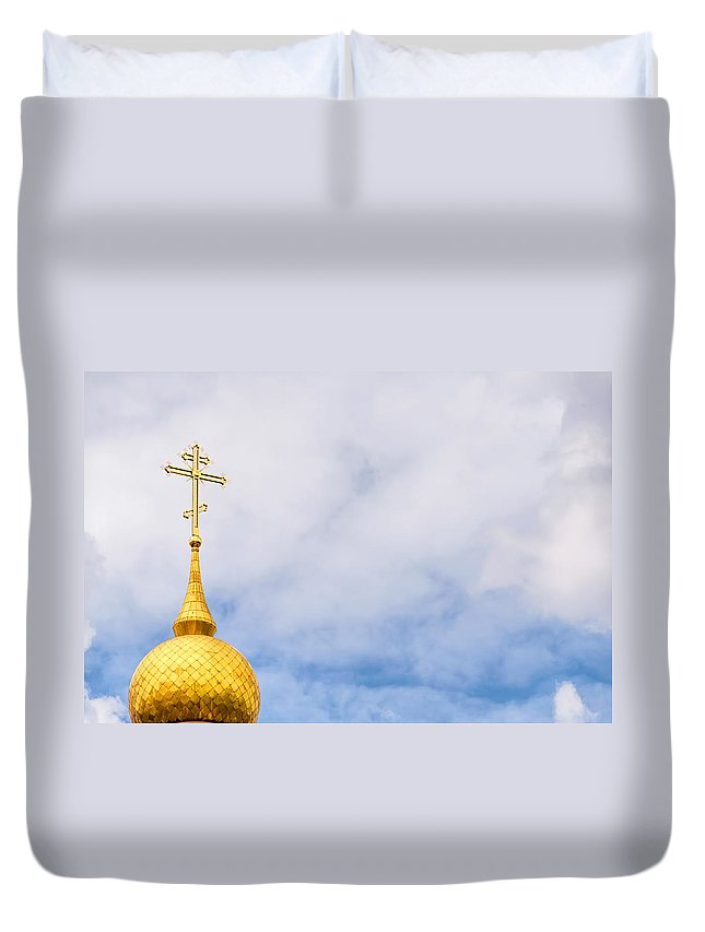 Birth Of Christ Church Duvet Cover featuring the photograph Cloud Orthodoxy by Alain De Maximy
