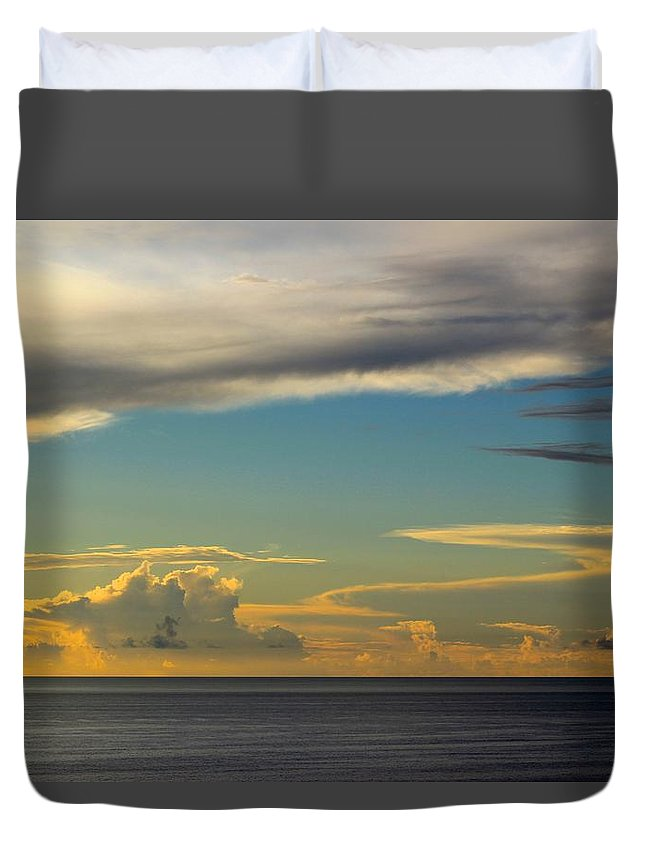 Clouds Duvet Cover featuring the photograph Cloud Racers by Kimberly Reeves