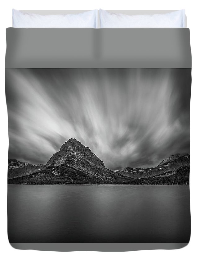 Glacier Duvet Cover featuring the photograph Cloud Shadows by Linda Cullivan