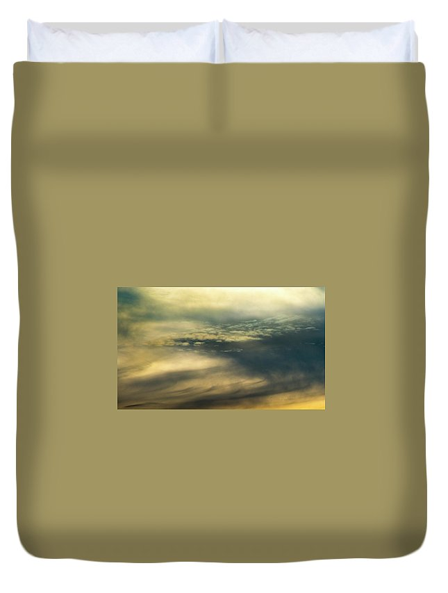 Cloud Systems Duvet Cover featuring the photograph Cloud Systems by Steven Poulton