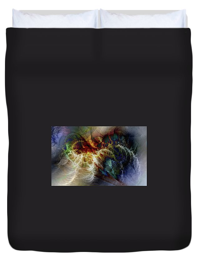 Digital Duvet Cover featuring the digital art Cloudbreak by Andy Young
