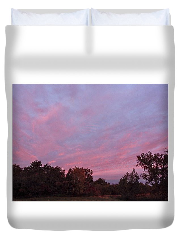 Landscape Duvet Cover featuring the photograph Clouds 54 by George Ramos