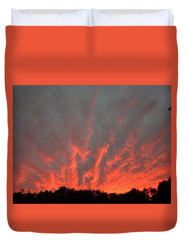 Landscape Duvet Cover featuring the photograph Clouds 63 by George Ramos