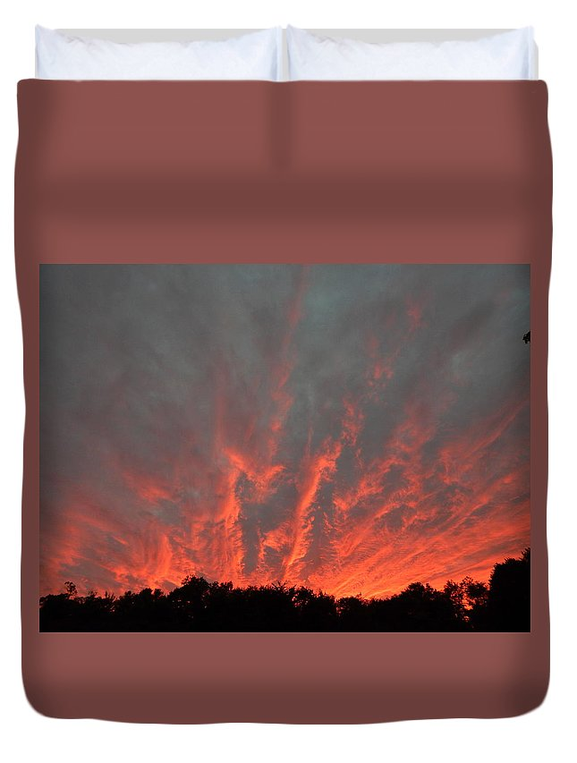 Landscape Duvet Cover featuring the photograph Clouds 64 by George Ramos