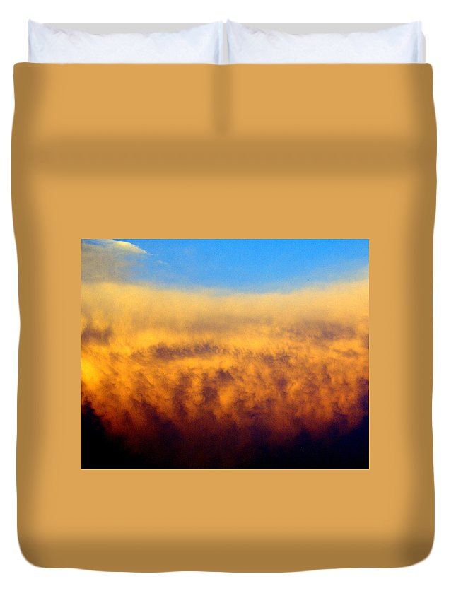 Clouds Duvet Cover featuring the photograph Clouds Ablaze by Marty Koch