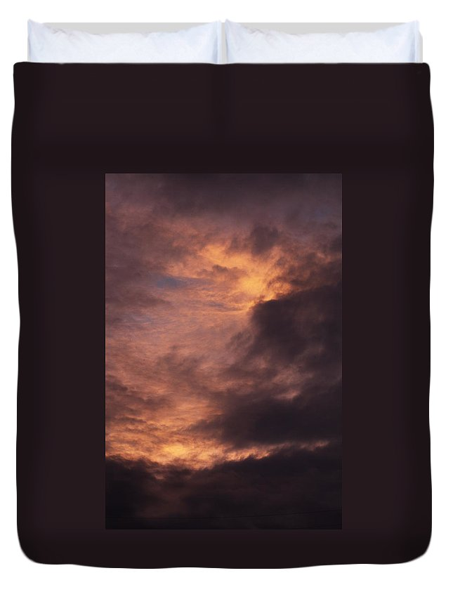 Clay Duvet Cover featuring the photograph Clouds by Clayton Bruster