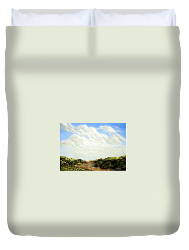 Landscape Duvet Cover featuring the painting Clouds Of Spring by Frank Wilson