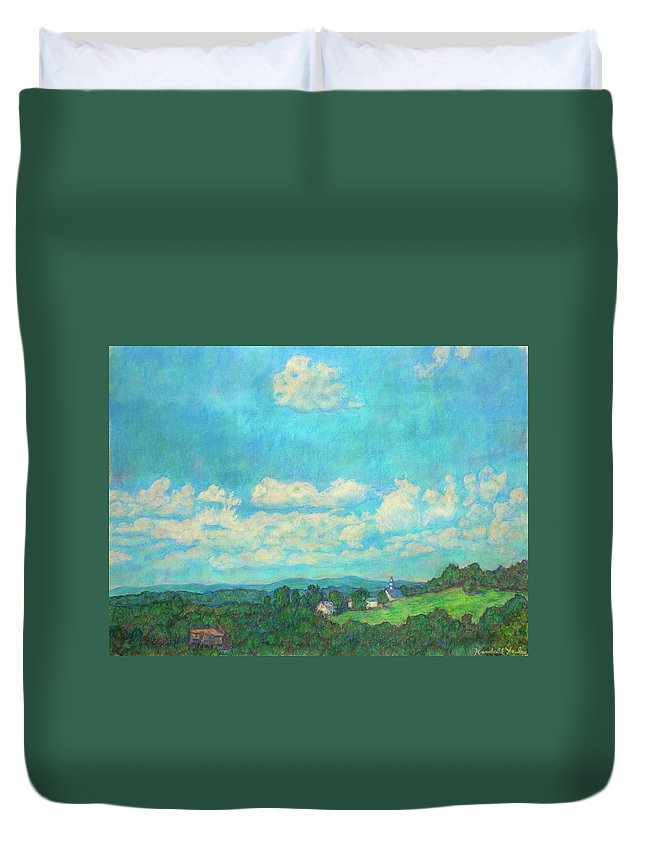 Landscape Duvet Cover featuring the painting Clouds Over Fairlawn by Kendall Kessler
