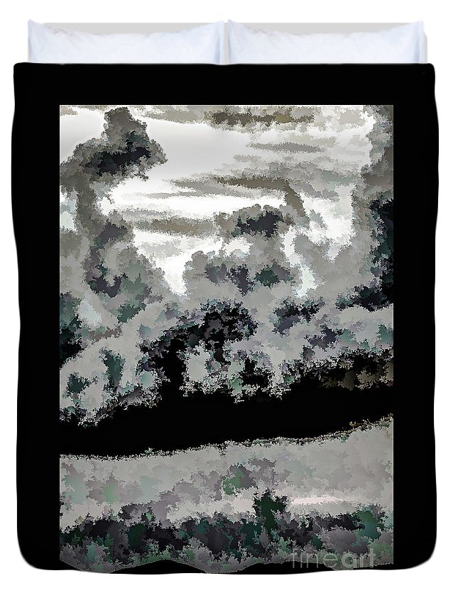 St Thomas Duvet Cover featuring the photograph Clouds Over St Thomas At Dusk 1 by Stefan H Unger
