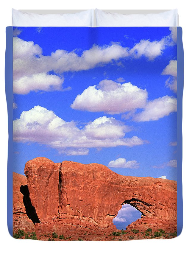 Arches Duvet Cover featuring the photograph Clouds Over The Arches by Buddy Mays