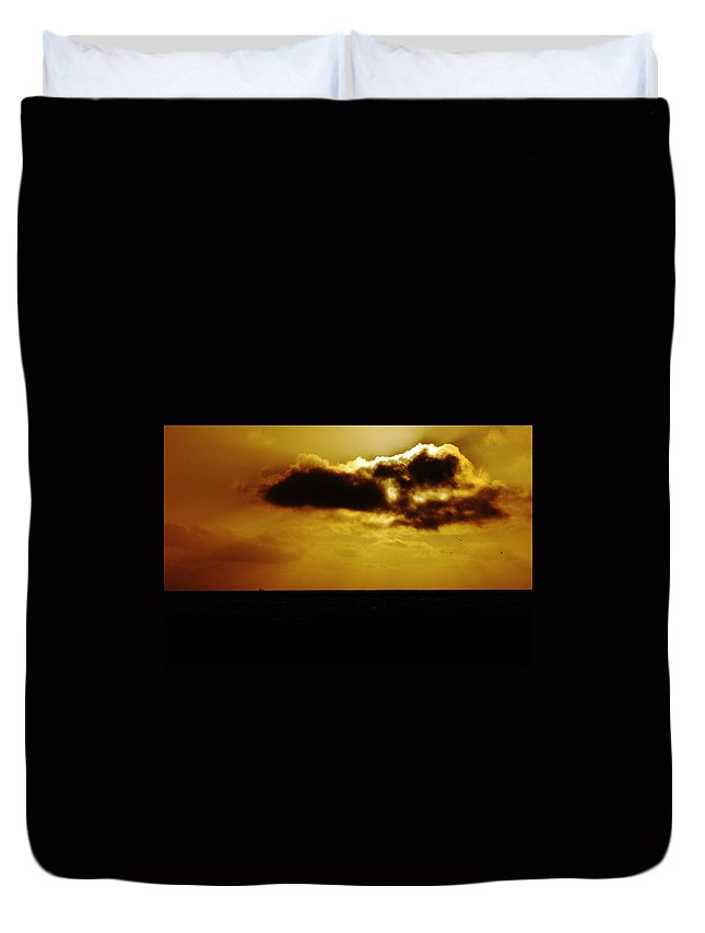 Clay Duvet Cover featuring the photograph Clouds Over The Ocean by Clayton Bruster