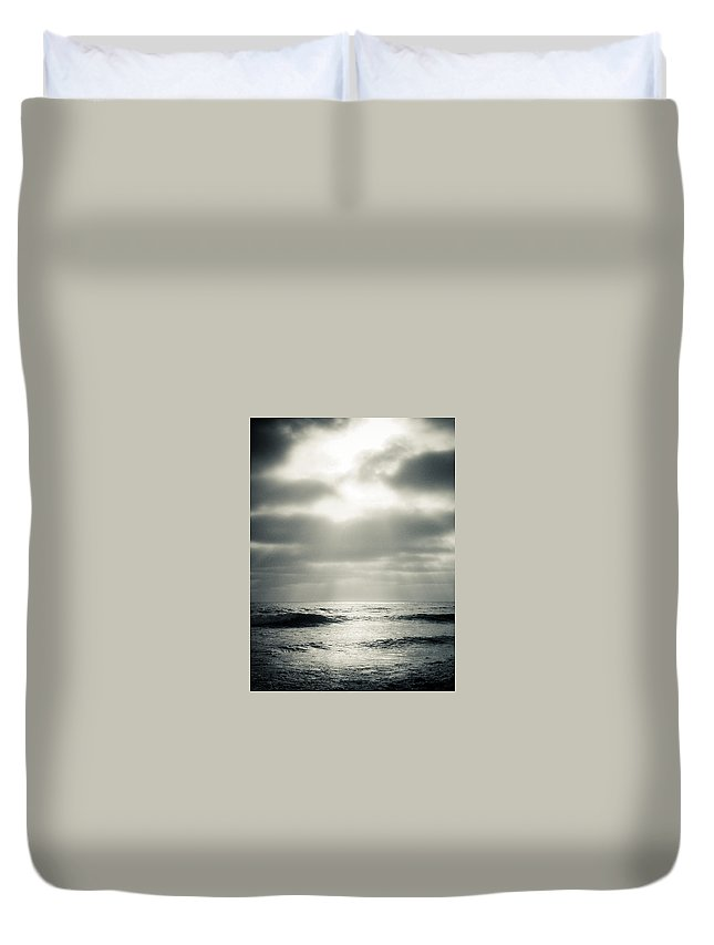 Clouds Duvet Cover featuring the photograph Clouds Over The Ocean by Scott Sawyer