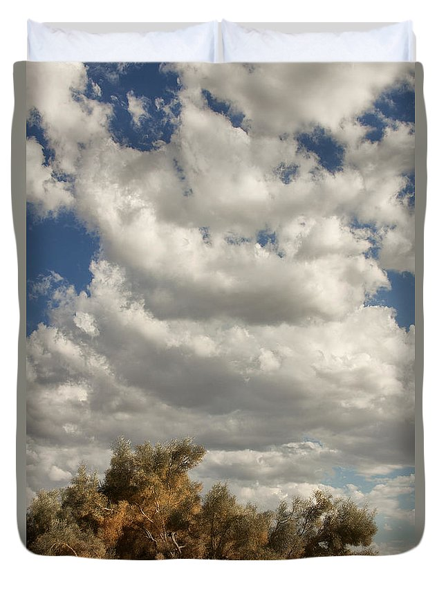 Desert Duvet Cover featuring the photograph Clouds Rising Palm Springs by William Dey