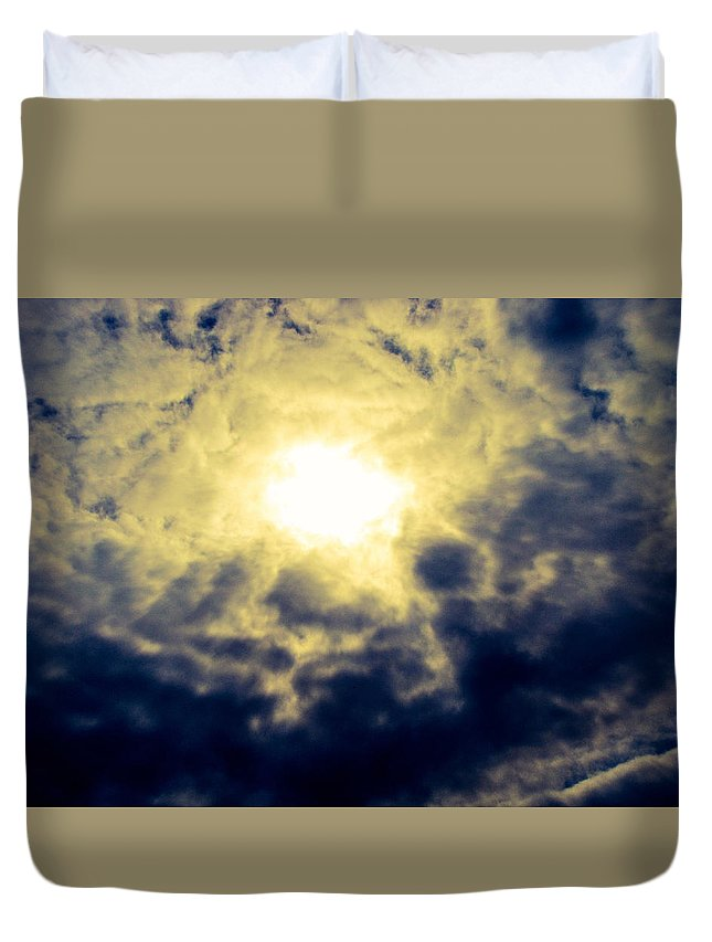 Clouds Duvet Cover featuring the photograph Cloudscape by Christina Zizzo