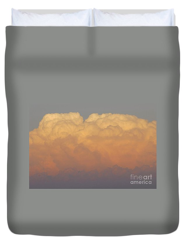Clouds Duvet Cover featuring the photograph Cloudscape Work Number Six by David Lee Thompson