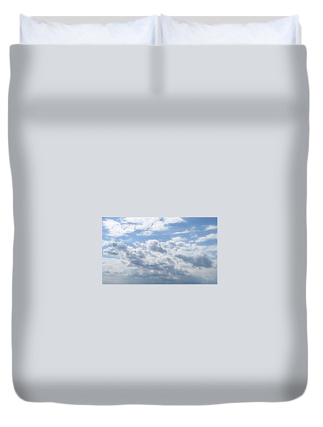 Clouds Duvet Cover featuring the photograph Cloudy by Rhonda Barrett