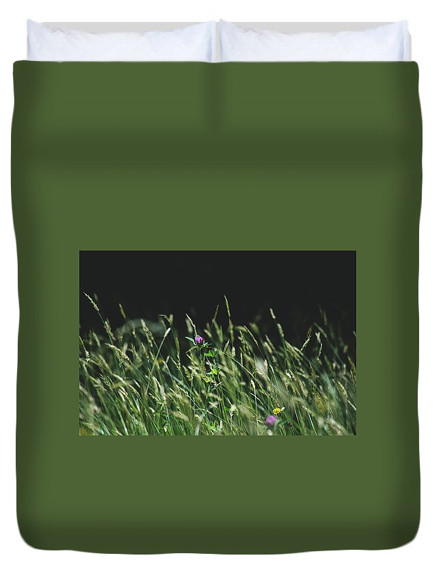 Flowers Duvet Cover featuring the photograph Clover by H Roberts Photography