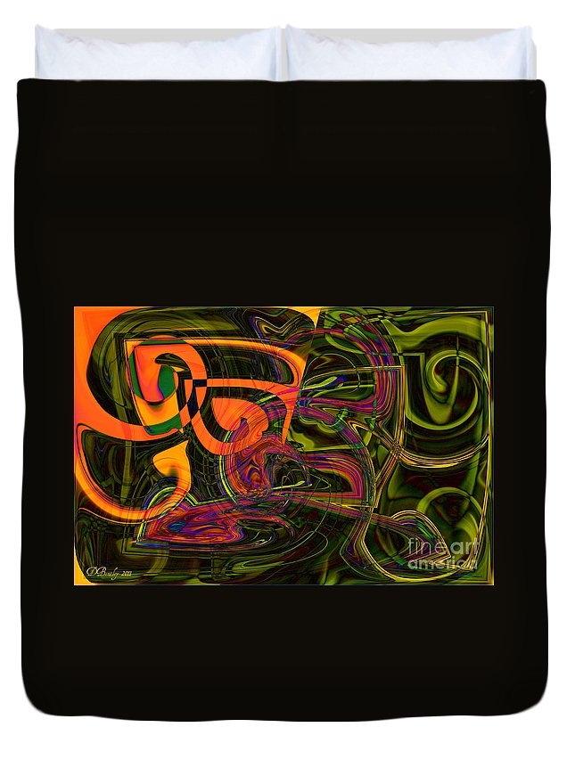 Abstract Art Duvet Cover featuring the photograph Clueless by Donna Bentley
