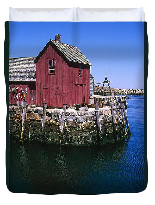 Landscape New England Rockport Motif Number 1 Duvet Cover featuring the photograph Cnrf0506 by Henry Butz